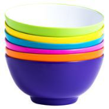 Barel Designs Barel Melamine Bowl, Mixed Bright, 15cm (Set of 6)
